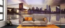 Brooklyn Bridge Wallpaper in a Living Room
