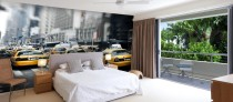 New York Taxi Cab Custom Wallpaper by Pictowall