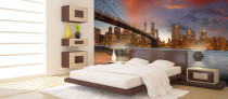 Brooklyn Bridge Wallpaper in a Bedroom