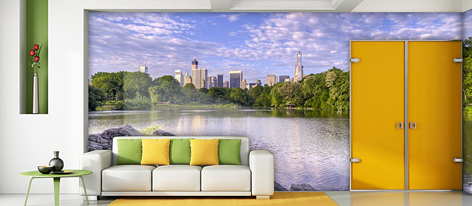central park day view living room wall mural