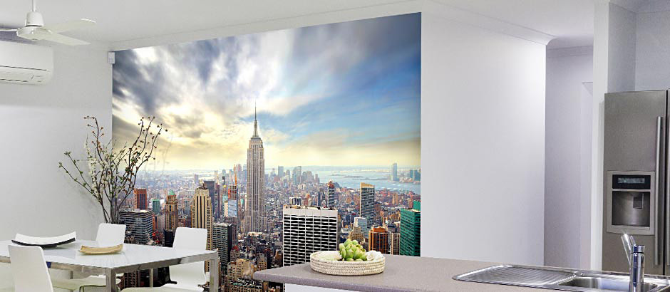 empire state day view kitchen wall mural