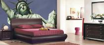 statue of liberty day view bedroom wall mural