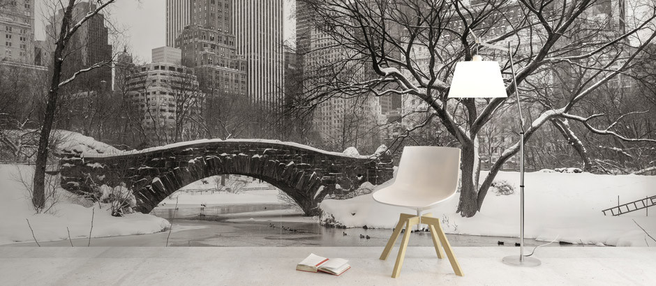 Snowy New York, Winter Wall Mural