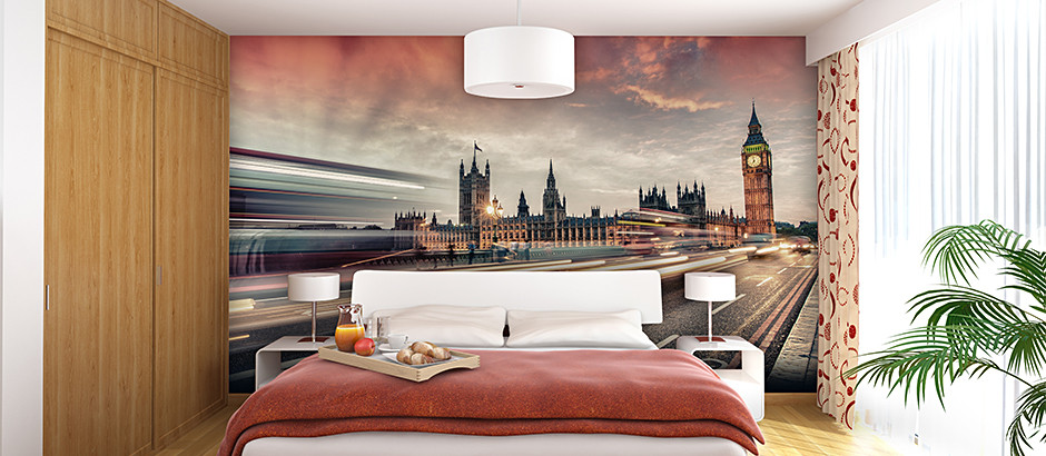 London bedroom wallpaper