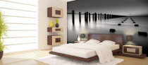Custom Black and White Wall Mural