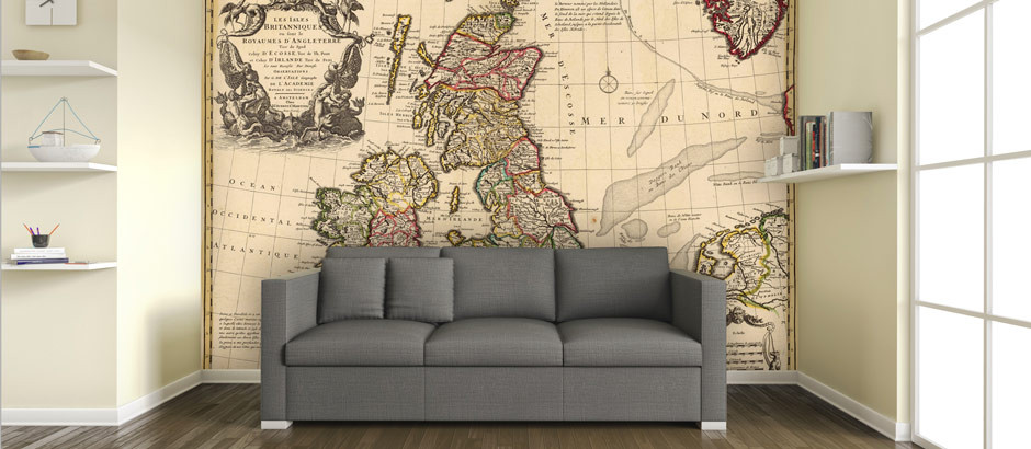 World map wallpaper uk vintage map wall mural pictowall maps wallpaper gumiabroncs Images