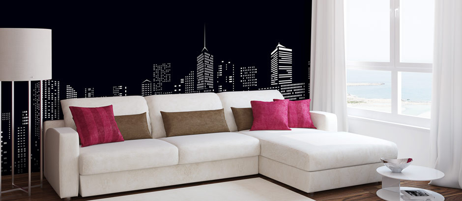 Illustration cityscape wallpaper