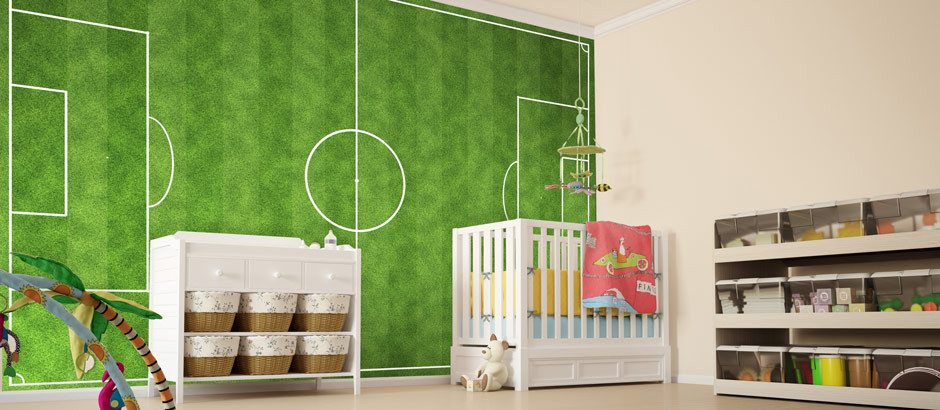 football wall murals for kids joshua and tammy. Black Bedroom Furniture Sets. Home Design Ideas