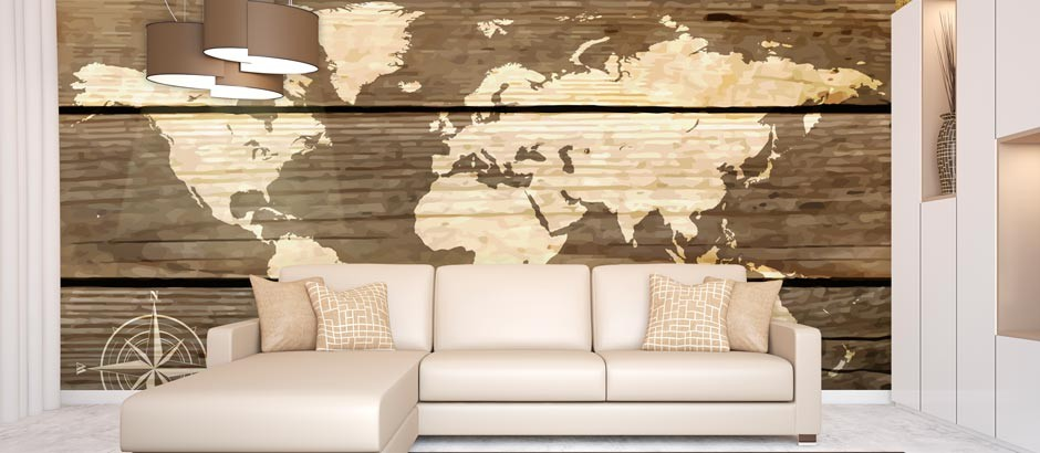World map wallpaper uk vintage map wall mural pictowall map of the world gumiabroncs Image collections