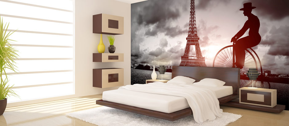 Eiffel Bicycle. Paris City Skyline Wallpaper   Paris Wall Murals   Pictowall