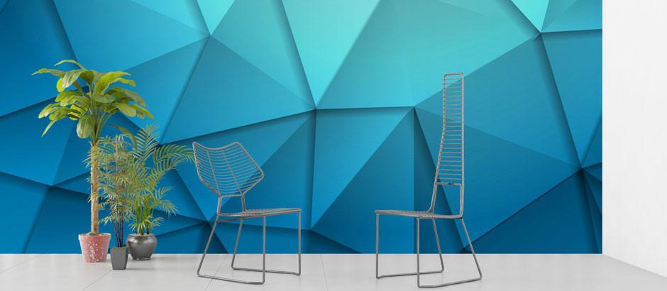 blue-polygon-wallpaper-mural