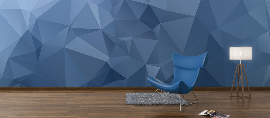 blue-polygon-wallpaper-mural