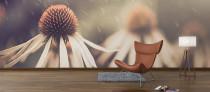 Vintage Daisies Wall Mural