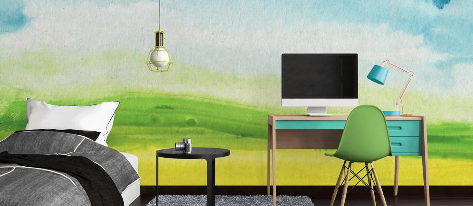 Abstract Watercolour printing wallpaper murals UK