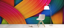 Coloured-wallpaper-mural
