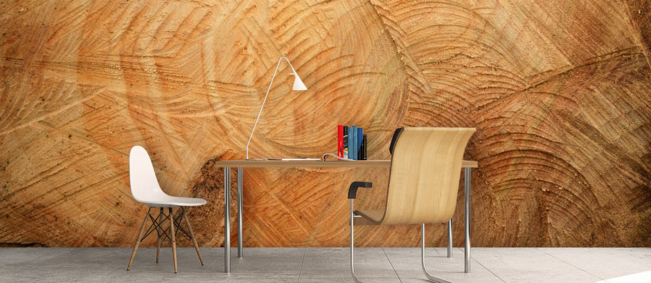 Wood effect wallpaper wood effect wall murals pictowall for Brewster wallcovering wood panels mural