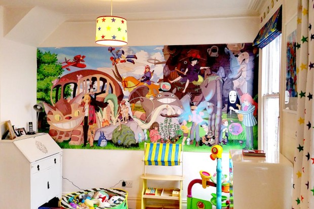 Ghibli, Kids Cartoon Custom Wallpaper, Cartoon Wall Mural by Pictowall, UK
