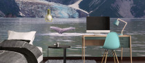 Whale Tail and nature wallpaper mural printing UK