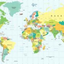 World Map - highly detailed vector illustration.