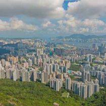 View of Hong Kong during the day - Hong Kong buildings and Victo