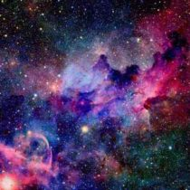 Nebula and galaxies in space. Elements of this image furnished b