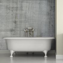 Concrete bathroom wallpaper
