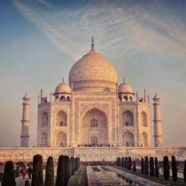 Taj Mahal, Sunset, India