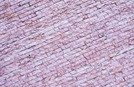 Purple Angled Brick effect Stone Wall Mural