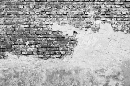 Distressed Gray Brick Wall effect Wallpaper Mural. Brick Wall Murals   Interior Design Ideas   Pictowall