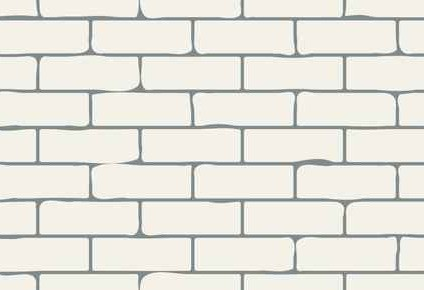 Creamy White Brick effect Wall Mural