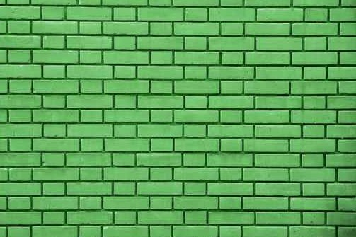 Green Brick effect Feature Wall