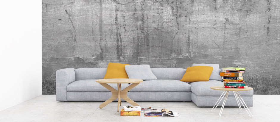 Concrete Wall Wallpaper concrete wallpaper & concrete effect wallpaper uk | pictowall