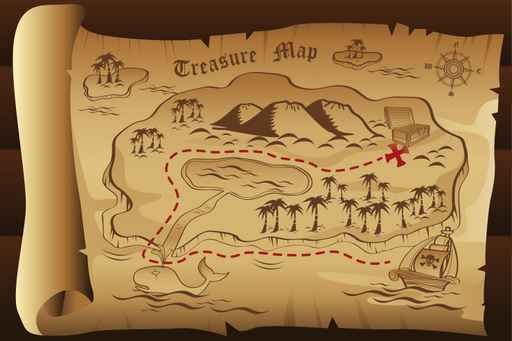 Kids Bedroom Treasure Map Wallpaper