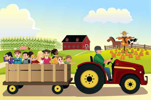 Kids Farm Visit Wallpaper