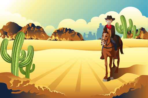 Wild West Desert Cowboy wallpaper murals for childrem