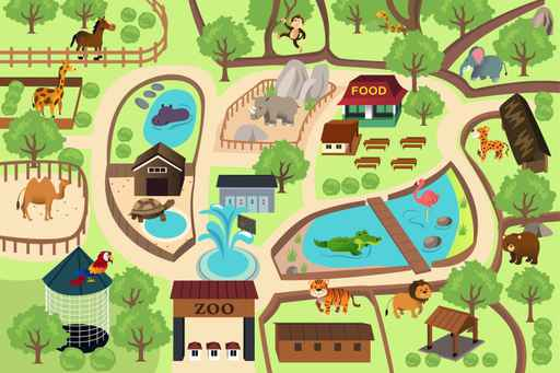 Kids Road Map Wallpaper