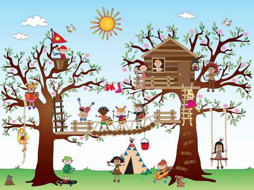 Kids Treehouse Wall Mural