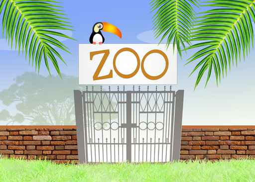 Kids Zoo Gates Wallpaper