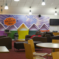 Custom Living Room wallpaper for Hull University