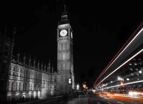 black and white london wallpaper pictowall