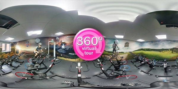 Click here to view a 360 degree 'Virtual Tour' of the cycling studio