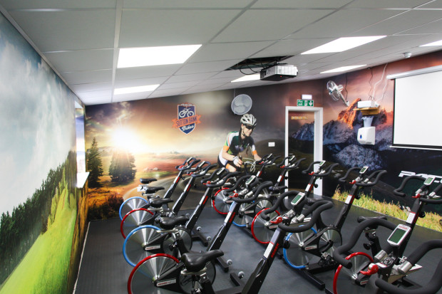 Peter nelson fitness cycling studio pictowall