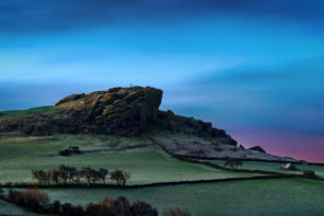 Arncliff Crag Dawn Wallpaper mural