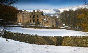 Barden Tower in snow Wallpaper mural