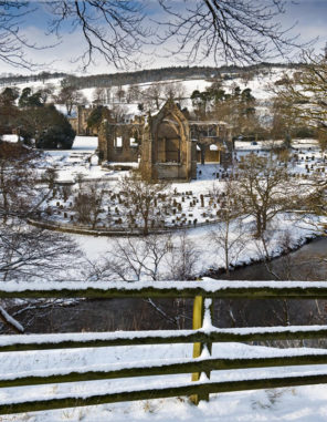 Bolton Abbey in Snow Wallpaper mural