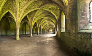 Fountains Abbey Undercroft Wallpaper mural