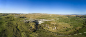 Malham cove aerial Wallpaper mural