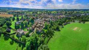 Masham Village Aerial Wallpaper mural