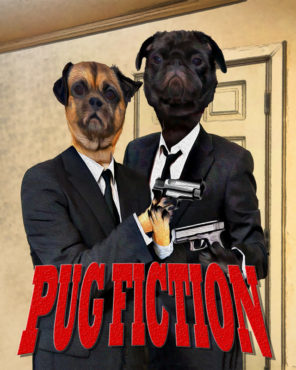 Pug Fiction Wallpaper mural