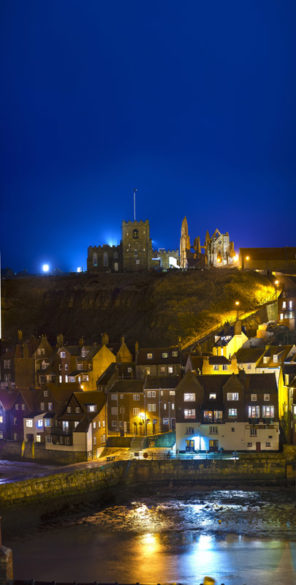 Whitby Town & Abbey Wallpaper mural